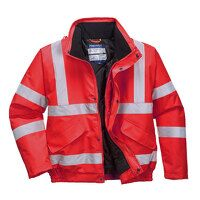Hi-Vis Bomber Jacket (Red / Small / R)