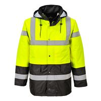 Hi-Vis Contrast Traffic Jacket (YeBk / Small / R)