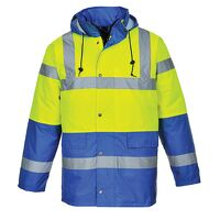 Hi-Vis Contrast Traffic Jacket (YeRb / XL / B)