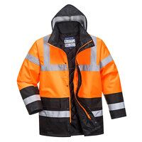 Hi-Vis Two Tone Traffic Jacket (OrBk / M...