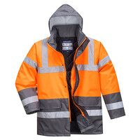 Hi-Vis Two Tone Traffic Jacket (OrGrey /...