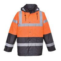 Hi-Vis Two Tone Traffic Jacket (Orange / XXL / R)