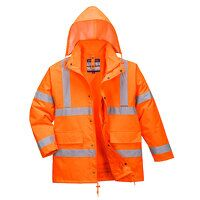 Hi-Vis 4-in-1 Traffic Jacket (Orange / Small / R)