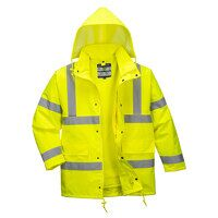Hi-Vis 4-in-1 Traffic Jacket (Yellow / Large / R)