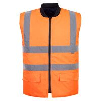 Hi-Vis Reversible Bodywarmer (Orange / Medium / R)