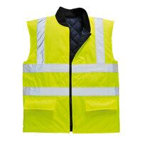 Hi-Vis Reversible Bodywarmer (Yellow / 4XL / R)