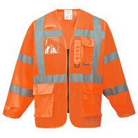 Hi-Vis Executive Jacket (Orange / Medium / R)
