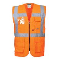 Berlin Executive Vest (Orange / 4XL / R)