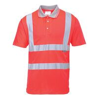 Hi-Vis Short Sleeve Polo (Red / Large / R)