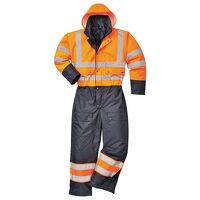 Hi-Vis Contrast Coverall - Lined (OrNa / XL / R)