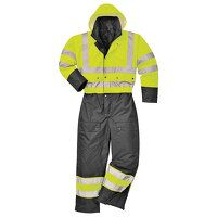 Hi-Vis Contrast Coverall - Lined (YeBk / 6XL / R)