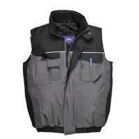 RS Two-Tone Bodywarmer (BkGrey / Large / R)