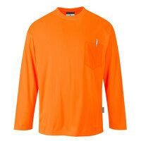 Day-Vis Pocket Long Sleeve T-Shirt (Orange / 3 XL / R)