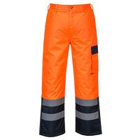 Hi-Vis Contrast Trousers - Lined (OrNa / XL / R)
