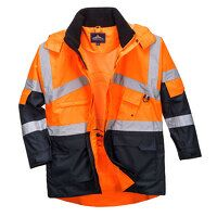 Hi-Vis 2-Tone Breathable Jacket (OrNa / Large / R)