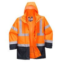 Hi-Vis Executive 5-in-1 Jacket (OrNa / Small / R)