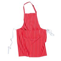 Butchers Apron with Pocket (Red / R)