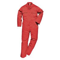 Euro Work Coverall (Red / Large / R)