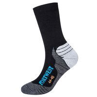Bamboo Hiker Sock (Black / 44-48 / R)