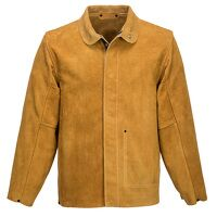 Leather Welding Jacket (Tan / XL / R)