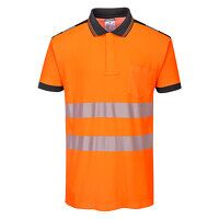 PW3 Hi-Vis Polo Shirt S/S (OrBk / 3 XL / R)