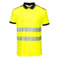 PW3 Hi-Vis Polo Shirt S/S (YeBk / 4XL / R)