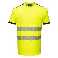PW3 Hi-Vis T-Shirt S/S (YeBk / Small / R)