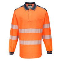 PW3 Hi-Vis Polo Shirt L/S (OrNa / Medium / R)
