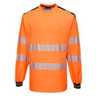PW3 Hi-Vis T-Shirt L/S (OrBk / Medium / R)