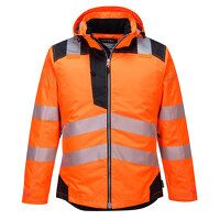 PW3 Hi-Vis Winter Jacket  (OrBk / XXL / R)
