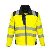 PW3 Hi-Vis Softshell Jacket (YeBk / Medium / R)