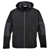 Softshell with Hood (3L) (Black / Large / R)