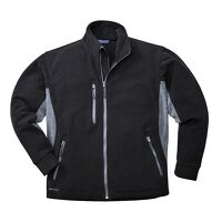 Portwest Texo Heavy 2 Tone Fleece (Black / XSmall ...