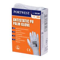 Vending Antistatic PU Palm Glove (GreyGrey / Large...