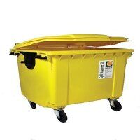 4 wheeled bin 900ltr oil-only spill resp...