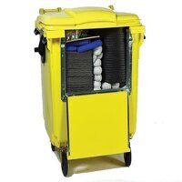 4 wheeled drop front bin 900ltr chemical spill res...