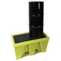 2-drum all weather poly spill pallet