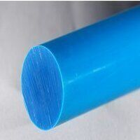 Nylon 6 Rod 75mm dia x 250mm (Blue - Heat Stabiliz...