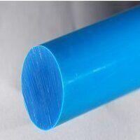 Nylon 6 Rod 100mm dia x 250mm (Blue - Heat Stabili...