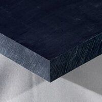 Nylon 6 Sheet 500 x 250 x 1mm (Black - Mos2 Lubric...
