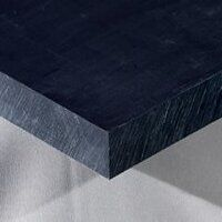 Nylon 6 Sheet 500 x 250 x 12mm (Black - Mos2 Lubri...