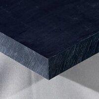 Nylon 6 Sheet 500 x 250 x 80mm (Black - Mos2 Lubricated)