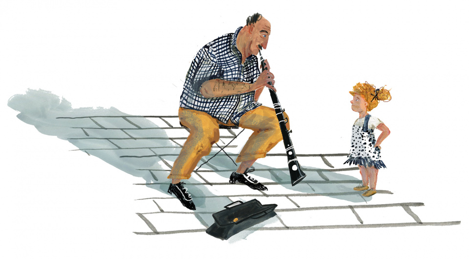 The musician and the child