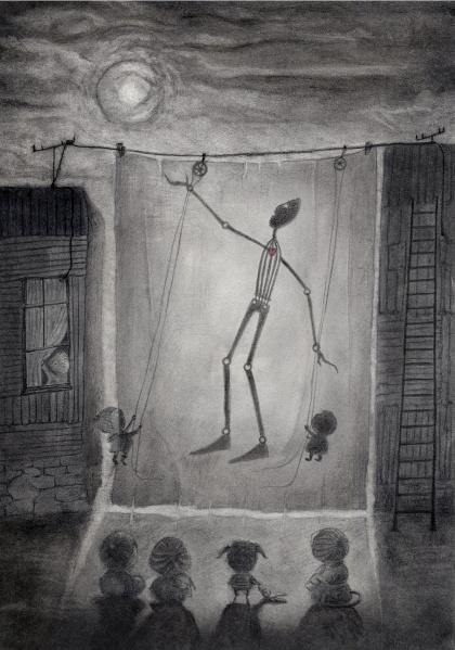 A Puppet Night / Una notte di marionette    Graphite