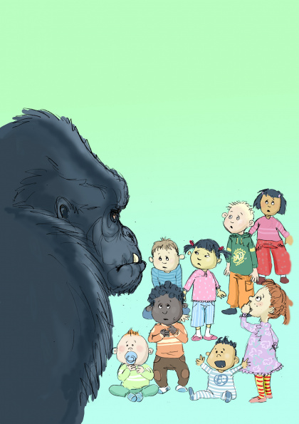 "Cover of childrensbook ""Can a Gorilla be a good teacher?"""