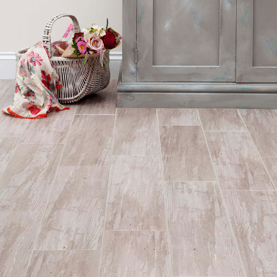 floor tile in HD Rustic Wood finish