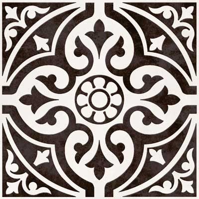 Devonstone black and white floor tiles