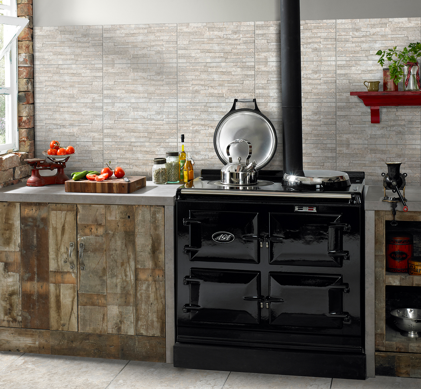 HD Slate - Textured kitchen tiles from the HD tile ranges