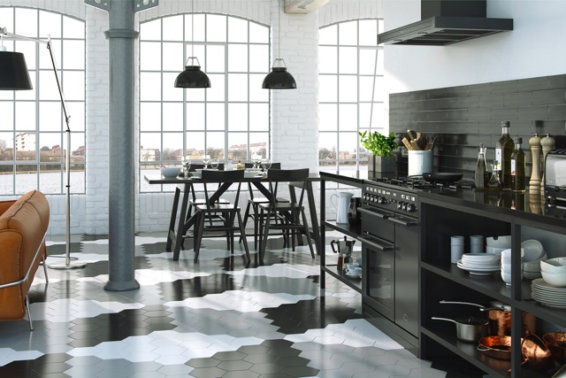 hex porcelain tiles
