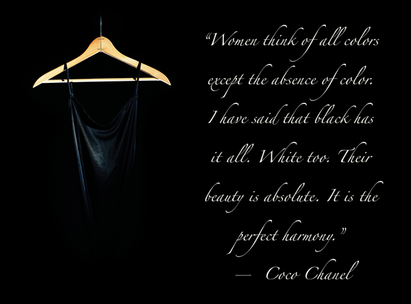 Coco Chanel Quote on Black